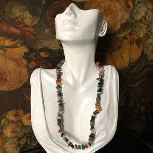 🌵 Vintage Natural Stone Chip Necklace